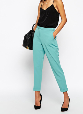 ASOS Trousers in Slim Leg with Turnup
