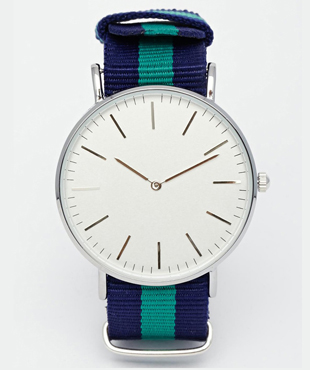 Reclaimed Vintage Canvas Strap Watch