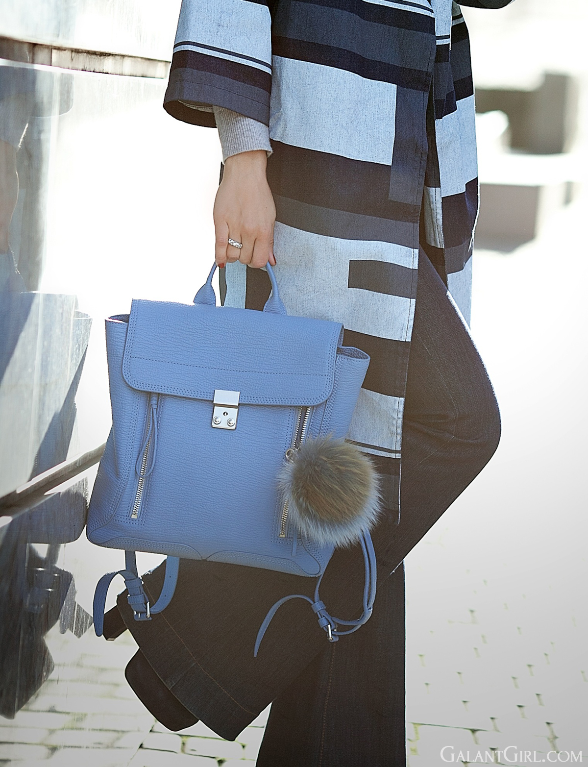 3.1 Phillip Lim Blue Pashli backpack on GalantGirl.com