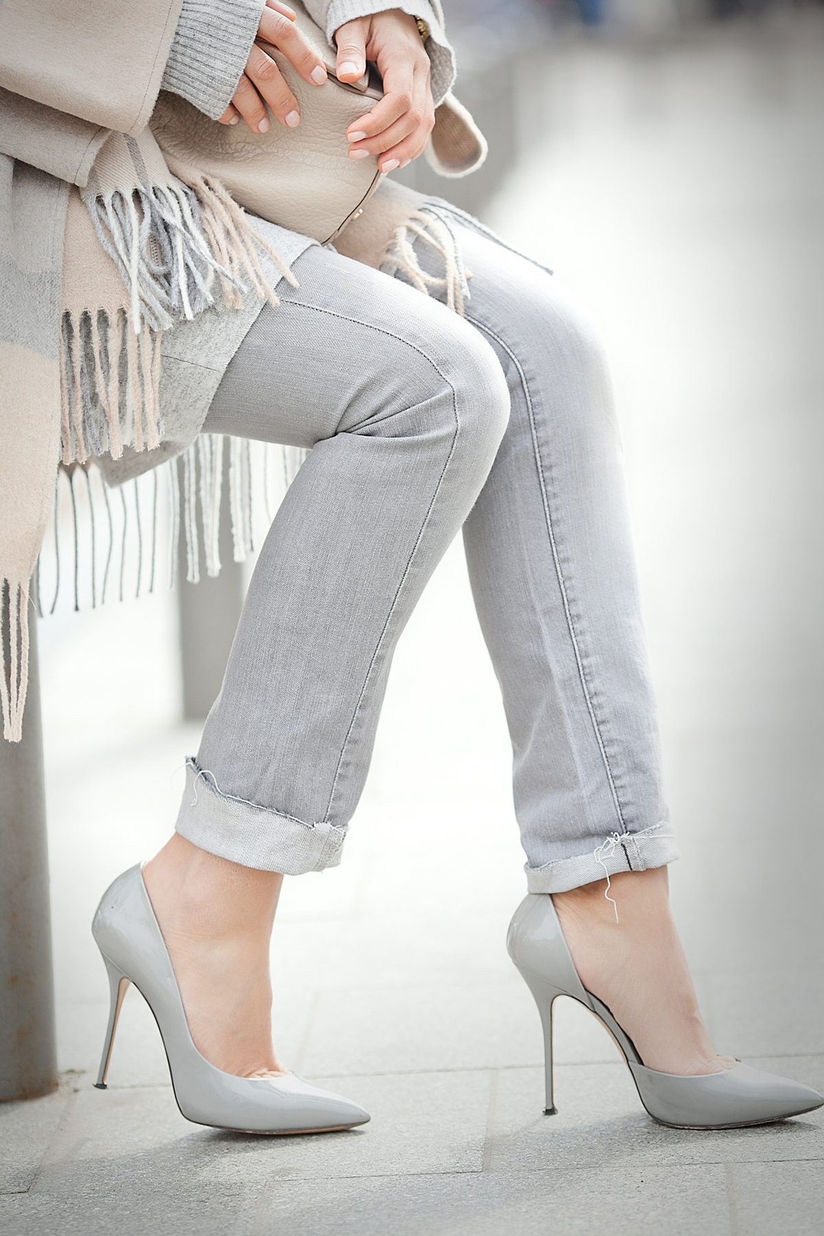 casadei grey pumps on GalantGirl.com