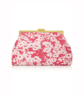 STELLA MCCARTNEY Floral-jacquard clutch