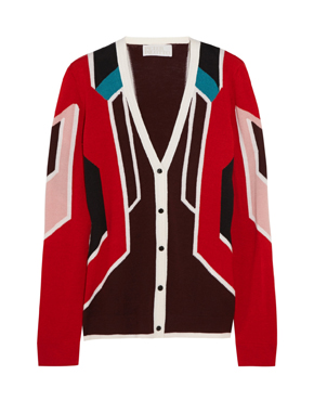 PETER PILOTTO Paneled wool and silk-blend cardigan