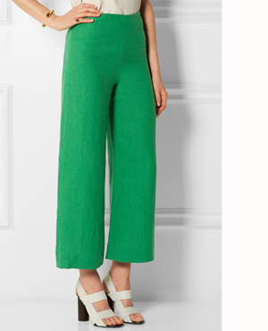 ISA ARFEN Cropped linen wide-leg pants