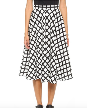 re:named Grid Lines Skirt (only 42 USD)