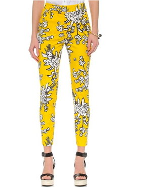 RED Valentino Bouquet Print Crop Pants
