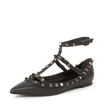 'Rockstud' Pointy Toe Flat on NORDSTROM!
