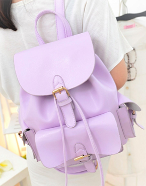 Choies Lavender Preppy Style Backpack