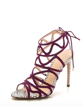 Alexandre Birman Suede Caged Sandals