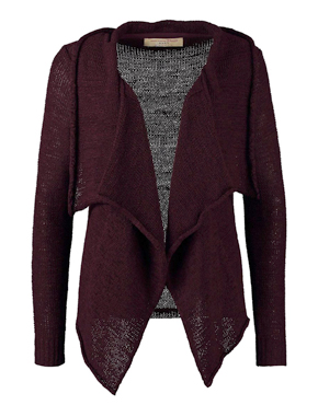 Tom Tailor Denim Cardigan - mauve wine red
