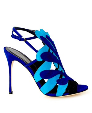 SERGIO ROSSI Matisse cut-out suede sandals