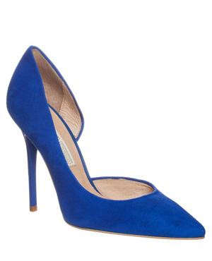 Buffalo Classic heels - suede blue electric