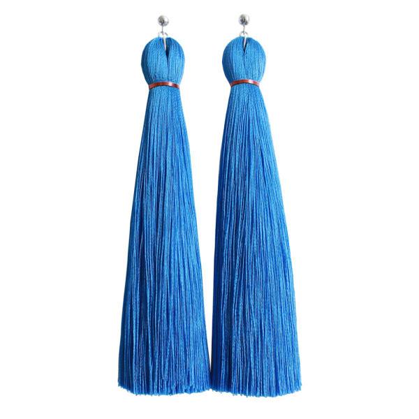 Blue Classic Tassel Earring