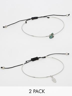 ASOS Best Friends Pack of 2 Cuff Bracelets