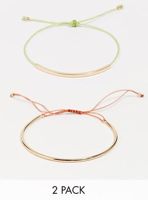 Selected Femme Nau Two Pack Bar Bracelet