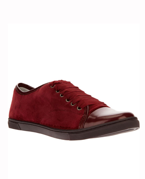LANVIN contrasted toe cap sneakers