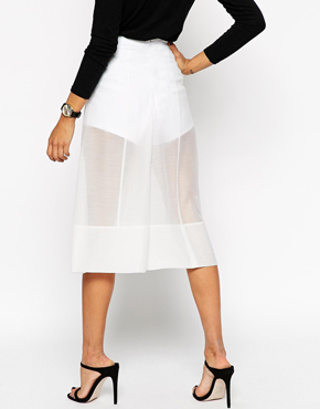 ASOS Premium Organza Wide Leg Trousers with Knicker Short