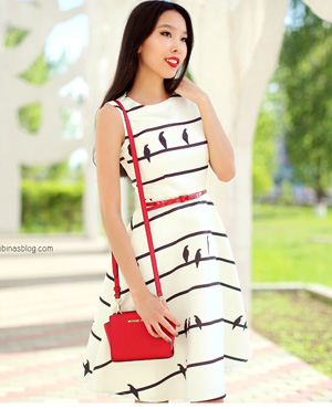 Sing a Love Song Printed Dress in Stripes