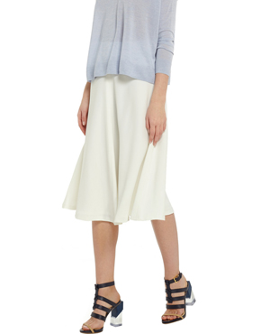 IRIS AND INK Rachelle crepe midi skirt
