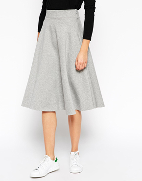 ASOS Premium Full Midi Circle Skirt