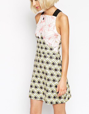 ASOS A Line Skater Dress in Floral Print