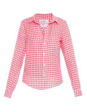 FRANK & EILEEN Barry gingham linen shirt