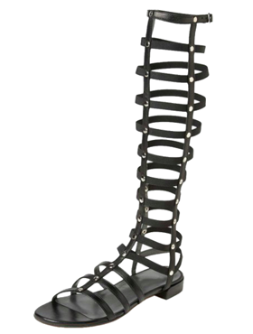 High Leg Gladiator Flat Sandals with Studs,  99,99 usd