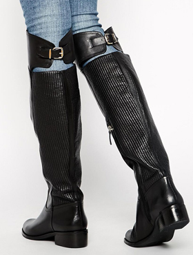 Reiss Over the Knee Flat Boots