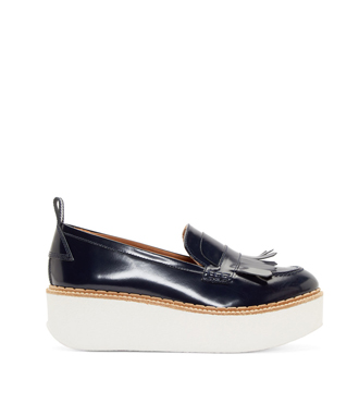 Flamingos  Navy Wellington Platform Loafers