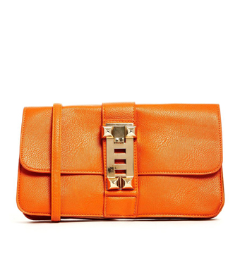Liquorish Burnt Orange Chain Cross Body Bag