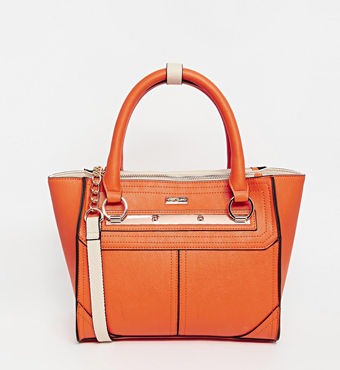 River Island Orange Winged Mini Tote