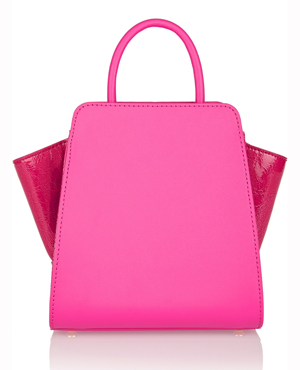 ZAC ZAC POSEN leather and patent-leather tote