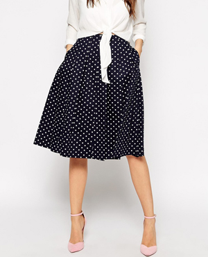 Helene Berman Polka Dot Full Skirt
