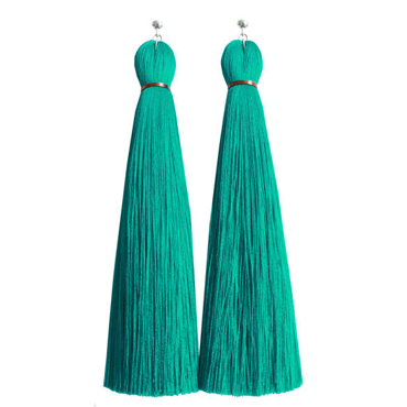 Turquoise Classic Tassel Earring