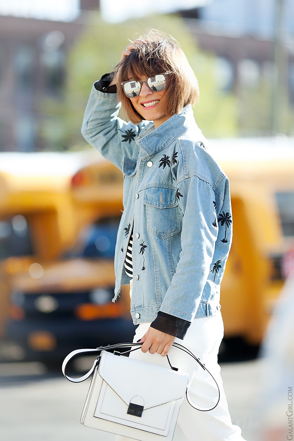 denim jacket, loeffler randall bag,  street style blog, street fashion, street style fashion, GalantGirl.com