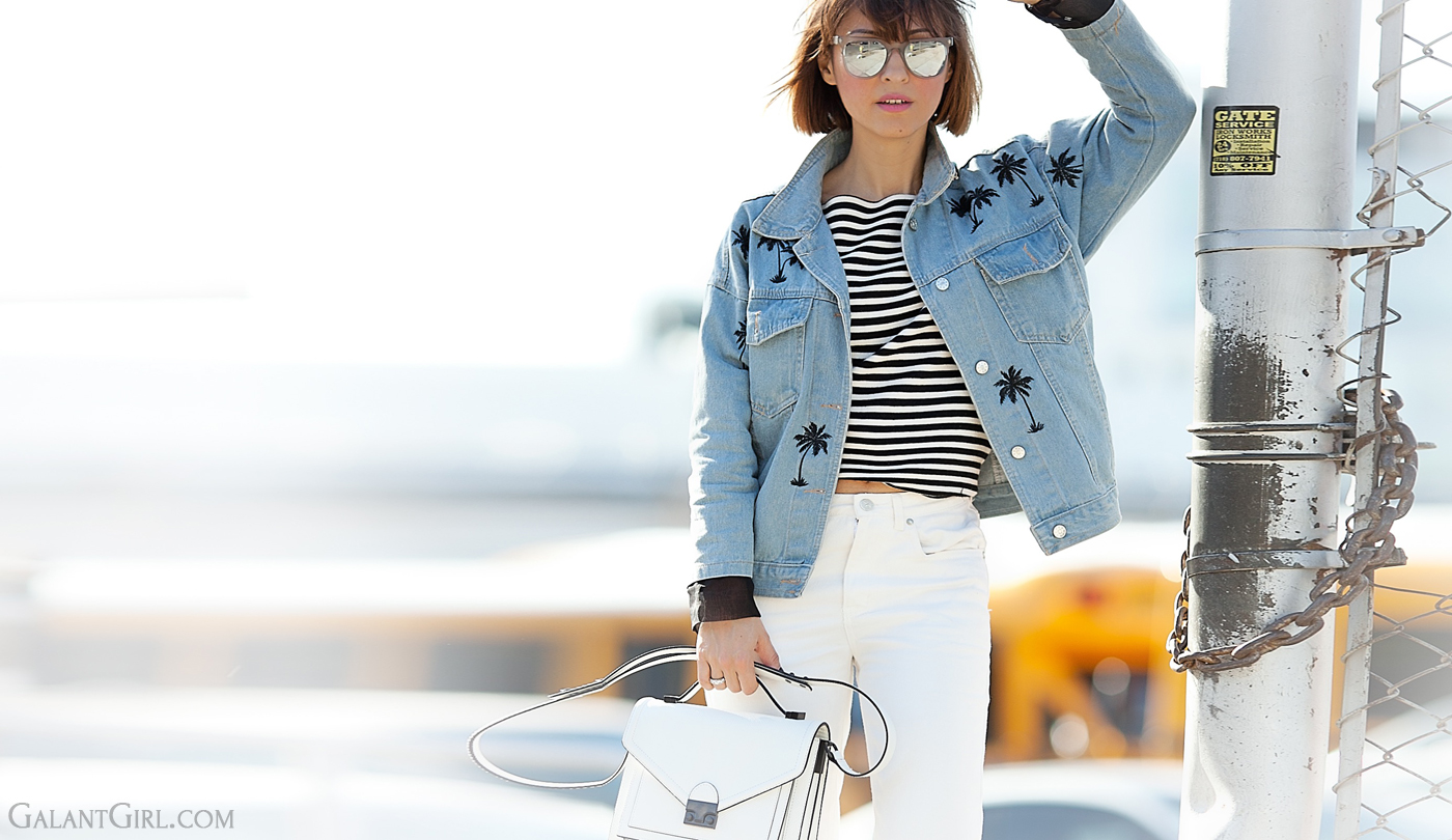 denim jacket, loeffler randall bag, street style blog, street fashion, street style fashion, GalantGirl.com