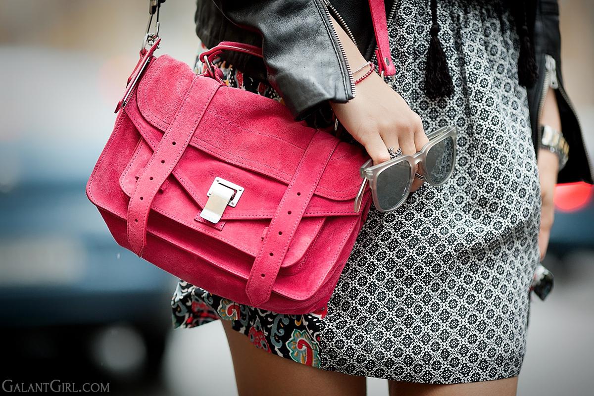proenza schouler ps1 in suede pink on GalantGirl.com