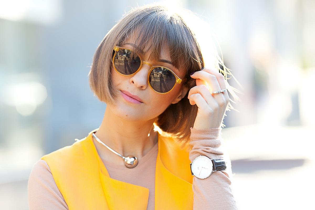 spitfire sunglasses and khoshtrik necklace on Galantgirl.com