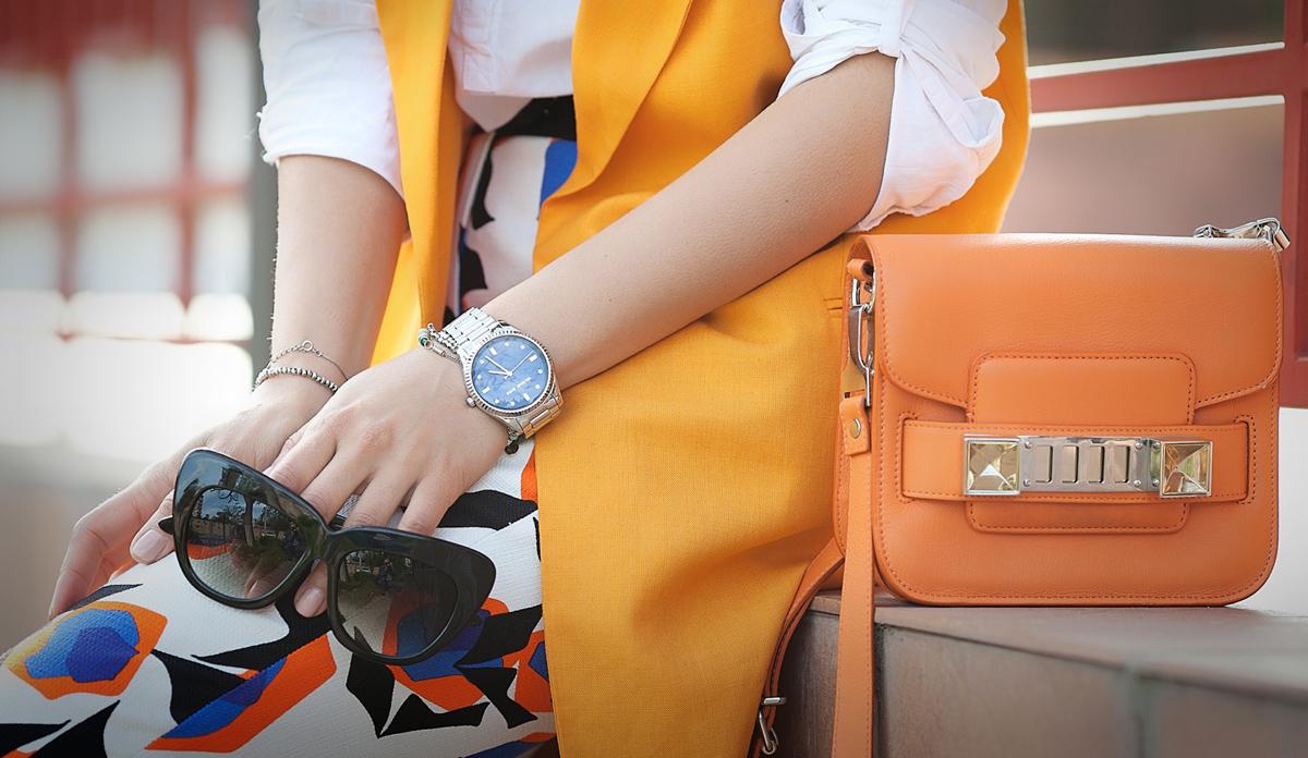 proenza schouler ps1, proenza schouler ps1 tiny cross body bag, fashion details, orange proenza schouler,