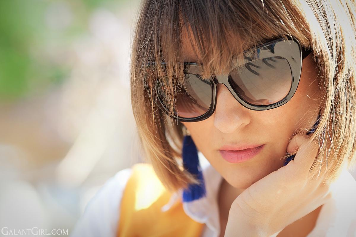 cat eye sunglasses, galant girl,