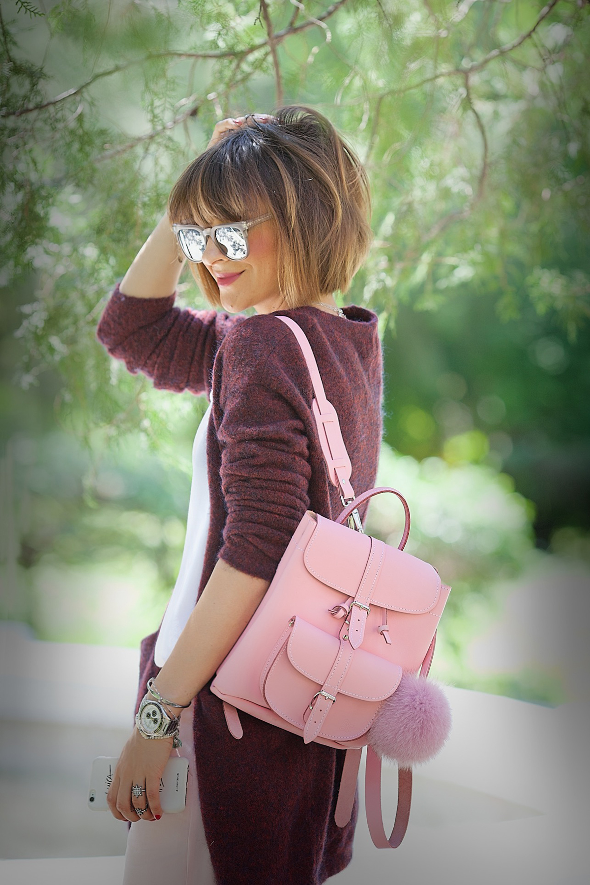 grafea backpack - grafea bag outfit- galant girl - srteet style -