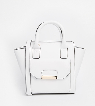 New Look Dinky White Winged Mini Tote Bag