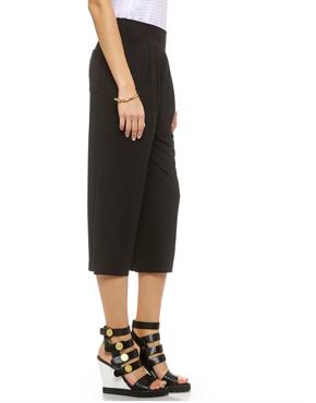 Three Dots Cropped Wide Leg Pants