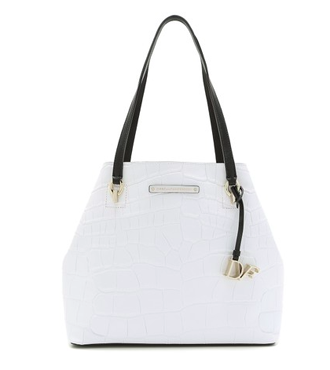 Diane von Furstenberg Embossed Croc Ready To Go Bag