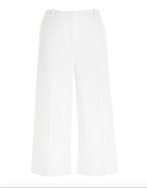 WHITE SMART CULOTTES