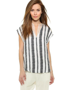 3.1 Phillip Lim Wavy Lines Embroidered Top