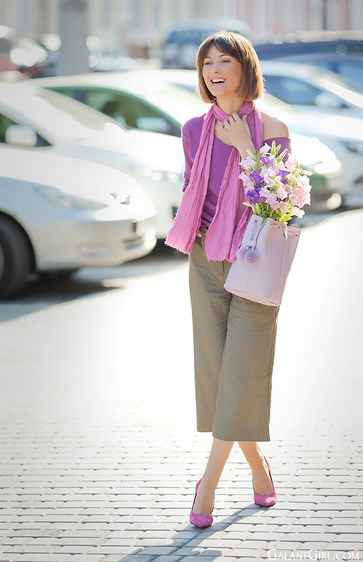 culottes-outfit-and-lilac-and-purple-outfit-with-off-shoulder-top