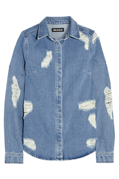 HOUSE OF HOLLAND Distressed denim shirt