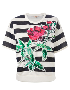 P.A.R.O.S.H. embellished striped T-shirt
