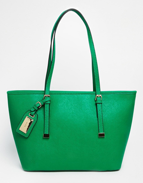 ALDO Tote With Luggage Tag On Strap