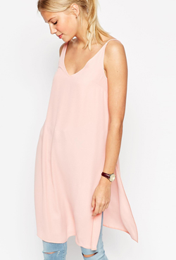 ASOS Square Open Back Longline Maxi Cami Top With Side Splits